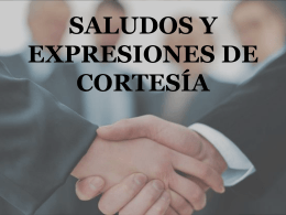 Greetings and Courtesies PowerPoint