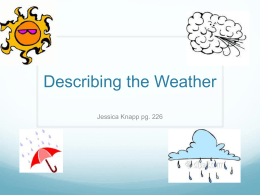 Describing the Weather