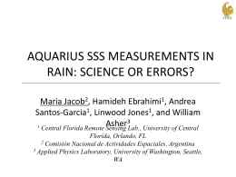 aquarius sss measurements in rain: science or errors?