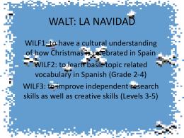 WALT: LA NAVIDAD