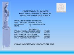 Taller NIIF-PYME El Salvador - seminariodecontabilidad.ues