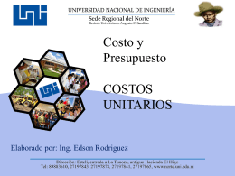 Costo Indirecto de Obra - Ing. Edson Rodríguez Solórzano