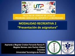 presentacion programa mod ii - Blog