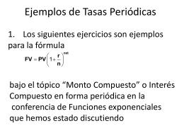 Ejemplos de Tasas Periodicas