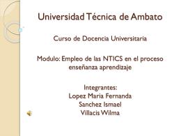 Diapositiva 1 - Ismael-Wilma