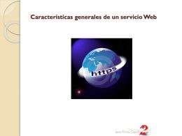 2.Características generales de un servicio Web