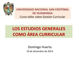 LOS ESTUDIOS GENERALES COMO ÁREA CURRICULAR