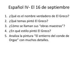Español IV- El 16 de septiembre