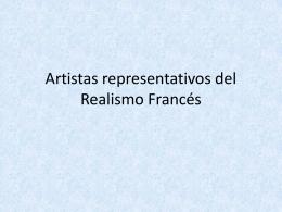 Artistas representativos del Realismo Francés