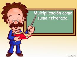 Multiplicación como suma reiterad