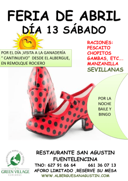 feria de abril día 13 sábado restaurante san agustin