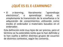 ¿qué es el e-learning? - wiki Santa Maria Reina