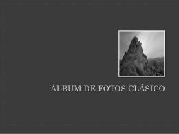 Práctica 7 Álbum de fotos Clásico