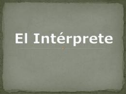 El Intérprete - SPANISH @ FR