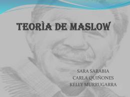 teorìa de maslow