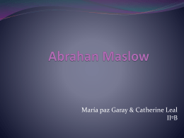 Abrahan Maslow IIºB