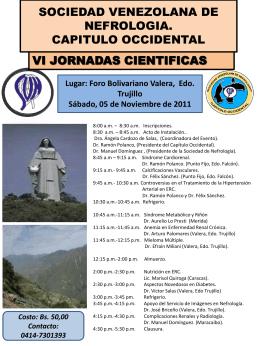 Diapositiva 1 - Sociedad Venezolana de Nefrología