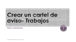 Crear un cartel de aviso- Trabajos - Over-blog