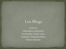 Los Blogs - informaticaeducativaunah-vs