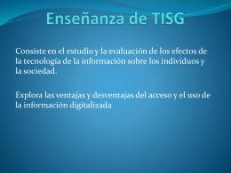 Enseñanza de TISG