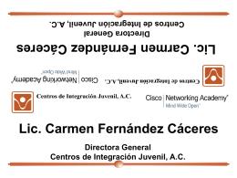 Presentación de PowerPoint - Centros de Integración Juvenil