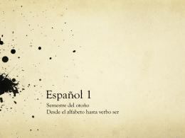 Español 1 Señor Delgado