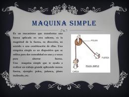 Maquina simple.