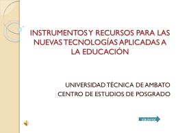 instrumentos y recursos para las nuevas tecnologías - Final-tics