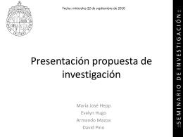 Partes de una propuesta de investigación