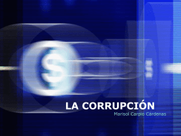 LA CORRUPCIÓN - Sociales-TIC