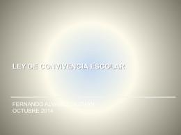 Presentación talleres Ley Convivencia Escolar 2014 r