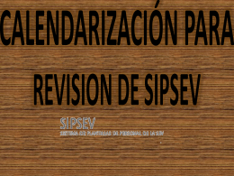 CALENDARIZACIÓN PARA REVISION DE PLAN