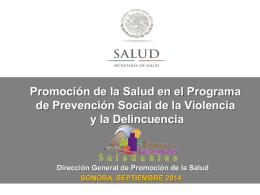 sonora - Dirección General de Promoción de la Salud