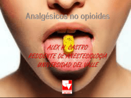 Analgésicos no opioides