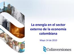 Energía en el Sector Externo de la Economía Colombiana