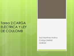 Tarea 2.CARGA ELÉCTRICA Y LEY DE COULOMB