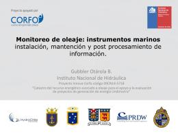 Monitoreo de oleaje: instrumentos marinos instalación, mantención