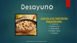 Juevos con Salchicha Ingredientes