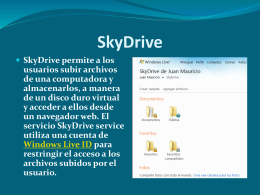 SkyDrive - equipobarichara