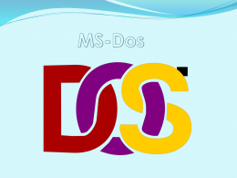 MS-Dos - computacion3b