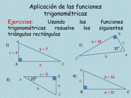 TALLER RESOLUCION DE TRIANGULOS
