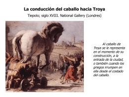 CONDUCCIÓN DEL CABALLO HACIA TROYA