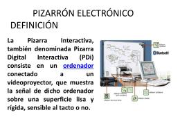 pizarron electronico a) definicion - pizarronelectronico