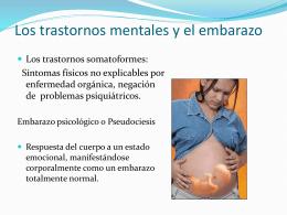 LOS TRASTORNOS MENTALES Y EL EMBARAZO Embarazo