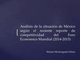 Análisis de la situación de México según el reciente reporte de