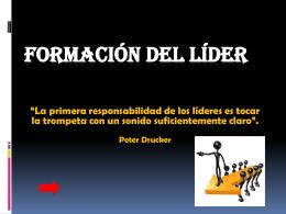 FORMACIÓN DEL LÍDER