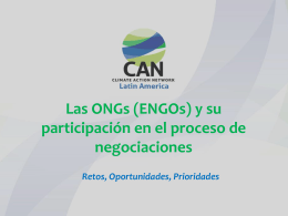 ONGs en el proceso de negociaciones – Lina Dabbagh CAN 29Oct14