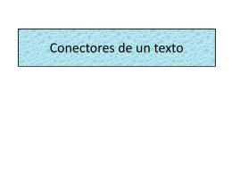 Conectores de un texto