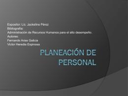 Planeación de Personal