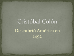 Cristóbal Colon